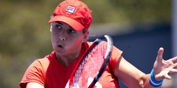Marina Erakovic went out in the first round in both Auckland and Hobart. Photo / Dean Purcell