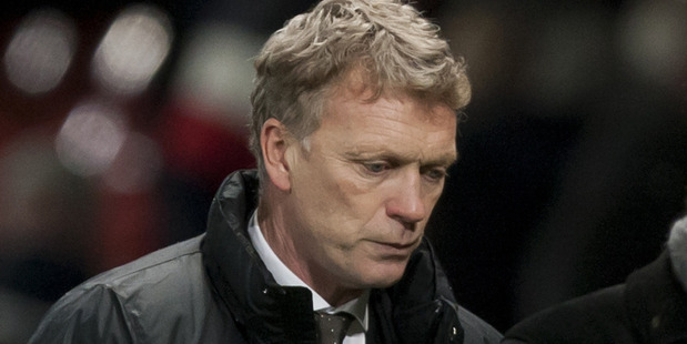 Manchester United coach David Moyes. Photo / AP