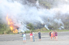 A large scrub fire in Opahi Bay, situated south of Warkworth. Photo / Jason Stewart