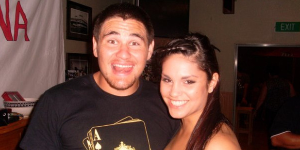 Russell Packer with partner Lara Wilcox - the couple have two children.