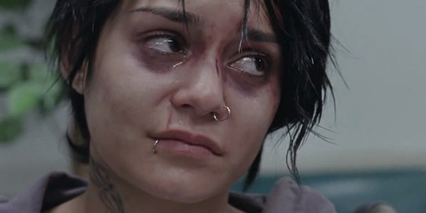 Vanessa Hudgens plays homeless pregnant teen Apple in Gimme Shelter.
