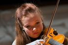 Hilary Hayes played the Dvorak Violin Concerto to win the graduation gala contest. Photo / Dean Carruthers