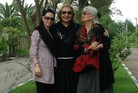 Three generations of Iranian women refuse to don their hijab in this photo.