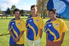 Ben Stevens, Kingi Rakete-Tane and Tane Stevens model the new Otaua Valleys strip. Photo / Debbie Beadle