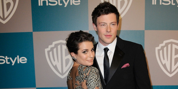 Actors Lea Michele and Cory Monteith at a Golden Globe Awards after party in 2012. Photo / Getty Images