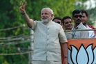 Narendra Modi trounced the left. Photo / AP