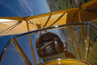 Aerobatics pilot Ryan Southam at work in a Tiger Moth over Mandeville, in Southland.