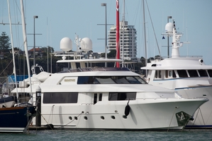 Sir Owen's luxury yacht Ubiquitous. Photo / Greg Bowker
