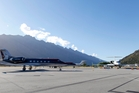 The number of private jets arriving at Queenstown in increasing. Photo / Michael Thomas