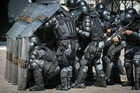The police unit was formed after demonstrations during last year's Confederations Cup. Photo / AFP