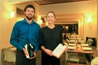 Pacifica front of house staff, Ryan Sheppard and Natalie Bulman show what makes quality service. Photo/Warren Buckland