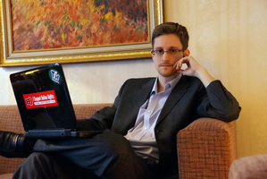 Former intelligence contractor Edward Snowden in December. Photo / Getty Images