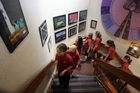 PLEASED: Rowan Meredith, 10, leads her fellow artists and schoolmates up past the exhibition, which will be on display at the Masterton District Council offices for the rest of the school term.