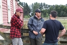 ACTION: Cameras rolled at the Taratahi Agricultural Training Centre last month to capture the hard work of ASB Bank and Poutamu Trust scholarship recipients that included Cedric Julian, left, and Dakota Tipu-Moengaroa, who are pictured speaking with the director about the day of filming. PHOTO/SUPPLIED