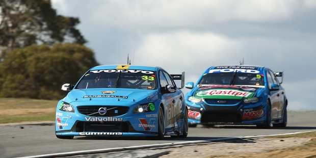 Scott McLaughlin on his way to winning at Perth. Photo / Getty Images