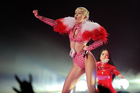 Miley Cyrus performing in New York. Photo/AP.