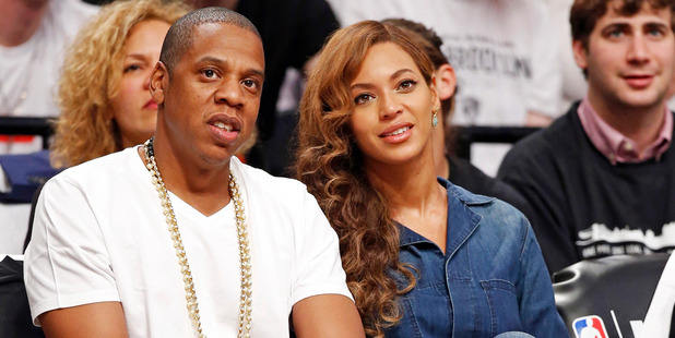 Jay-Z and Beyonce. Photo/AP.