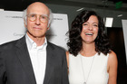 Larry David, left, and Producer Laurie David attend Radius' Los Angeles Premiere of FED UP. Photo / AP
