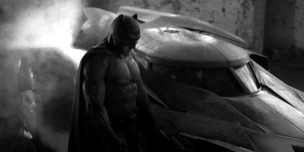 Ben Affleck dons the Batman suit for the first time. Photo/Twitter