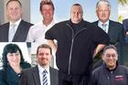 Clockwise: John Key, David Cunliffe, Kim Dotcom, Peter Dunne, Te Ururoa Flavell, David Seymour, Hone Harawira, Colin Craig, Annette Sykes. Photos / APN, NZ Herald, Getty Images
