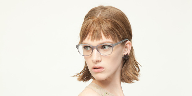Kate Sylvester's range of spectacles are named after her favourite book characters and authors - pictured here is the 'Sylvia', after Sylvia Plath. Picture / Karen Inderbitzen-Waller