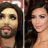 Conchita Wurst and Kim Kardashian have a few features in common. Photo / AP