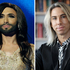 Conchita Wurst and Matt Bowden have a similar look. Photo / AP, NZH