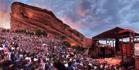 The legendary Red Rocks Amphitheatre concert venue near Morrison, Colorado, 16km west of Denver. The city is lobbying Air NZ to start flying to the city.