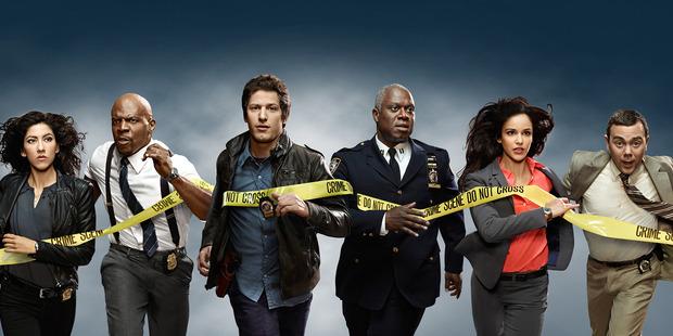 The cast of Brooklyn Nine-Nine.