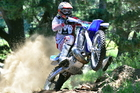 Adrian Smith (Yamaha YZ250) of Mokau (left) will keep risk-taking to a minimum this weekend.  Pictures / Andy McGechan, BikesportNZ.com