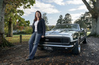 Michelle Pickles with her Chevrolet Camaro SS. Photo / Ted Baghurst.
