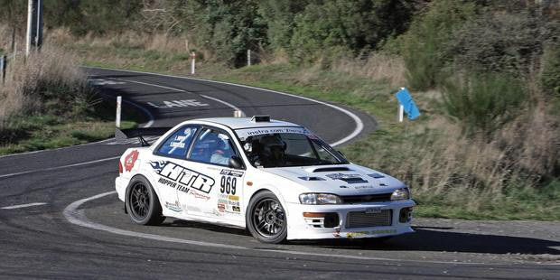 Two-time Targa Rotorua winners Leigh Hopper and Simon Kirkpatrick will start this weekend as favourites. Picture / groundsky.co.nz