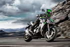 The Kawasaki Z1000 just laps up the corners.