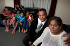 Nelson and Marama Harris with their children. Photo / Brett Phibbs