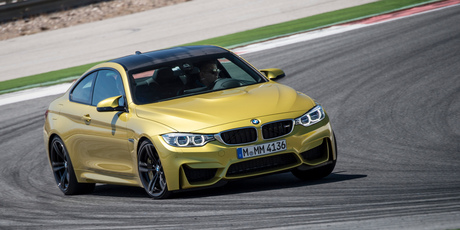 Driven Editor driving the BMW M4 Coupe at the launch in Portugal. Photo / Supplied