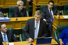 Finance Minister Bill English reading his Budget 2014 in Parliament, Wellington. 15 May 2014. Photo / Mark Mitchell
