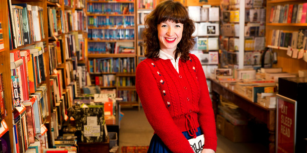 Jenna Todd manages the popular Mt Eden bookstore Time Out. Picture / Babiche Martens