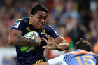 Highlanders centre Malakai Fekitoa has been named in the All Blacks training group after a strong Super Rugby season. Photo / Getty Images