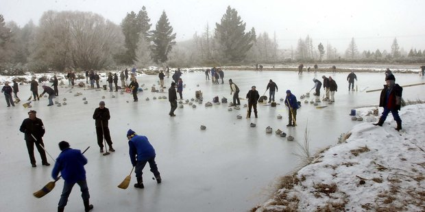 Curling competition in Otago. Photo / ODT