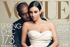 The April 2014 issue of Vogue featuring rapper Kanye West and TV personality Kim Kadashian. Photo / Annie Leibovitz, AP