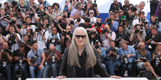 Jury President Jane Campion poses for photographers during a photo call for the members of the jury at the 67th Cannes Film Festival.