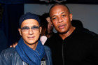 Music industry entrepreneur Jimmy Iovine, left, could collect $800m and hip-hop mogul Dr Dre $640m from the Apple deal. Photo / AP