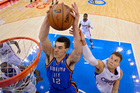 Steven Adams has outstripped all expectations. Photo / AP