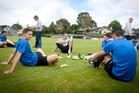 Auckland City FC training at Kiwitea Street. Photograph by Natalie Slade
