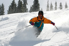Simon Louisson skis on the 'Cloud Nine' run in Blue Sky Basin at Vail. Photo / Colorado Ski Country