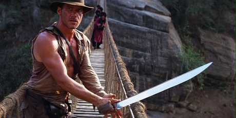 Indiana Jones and the Temple Of Doom starring Harrison Ford.