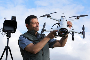 Ngunguru/Auckland filmmaker/photographer Colin Gans has developed a drone camera to film environmental documentaries.