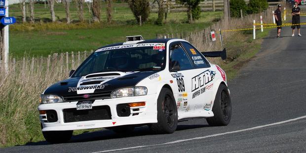 Leigh Hopper has built up a big lead after day two of Targa. Photo / Groundsky.co.nz