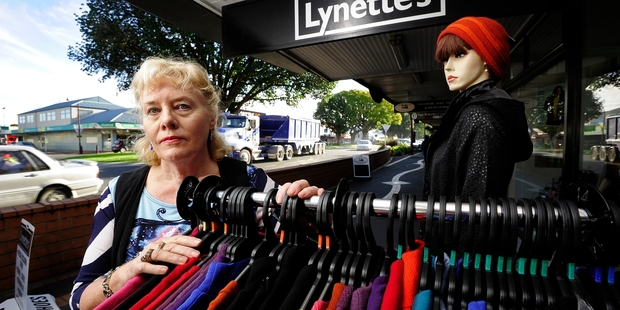 WORRIED: Lynette Lochhead is concerned the new bypass will leave Te Puke town and its retailers without customers. PHOTO/GEORGE NOVAK 130514GN09BOP