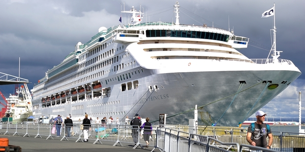 FINAL VISIT: The Dawn Princess made its final visit to the Port of Tauranga yesterday. PHOTO/GEORGE NOVAK 130514GN03BOP